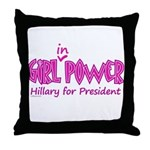 Girl in Power Throw Pillow