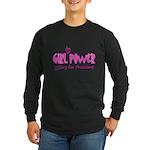 Girl in Power Long Sleeve Dark T-Shirt