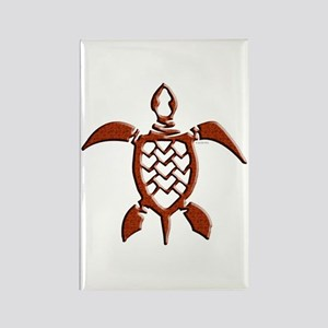 Tribal Sea Turtles Rectangle Magnet
