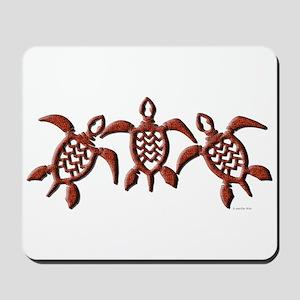 Tribal Sea Turtles Mousepad