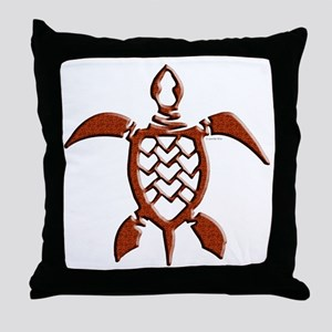 Tribal Sea Turtles Throw Pillow
