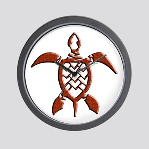 Tribal Sea Turtles Wall Clock
