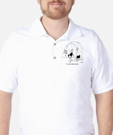 6127_real_estate_cartoon Golf Shirt