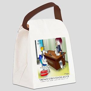 6167_dog_cartoon Canvas Lunch Bag