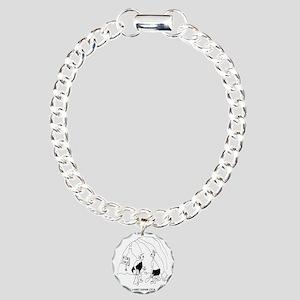 6127_real_estate_cartoon Charm Bracelet, One Charm