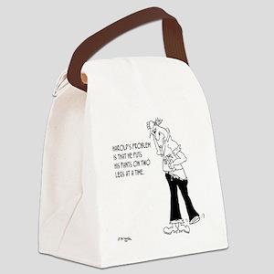 6141_pants_cartoon Canvas Lunch Bag