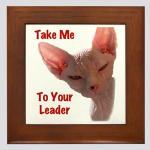 Nikita Take me to your leader Cut out Framed Tile