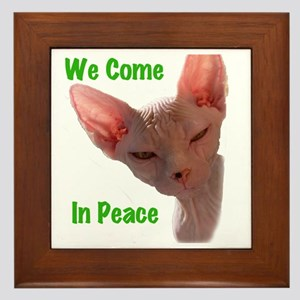 Nikita We come in peace Cut out 2 Framed Tile