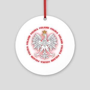 Polish White Eagle C2 Ornament (Round)