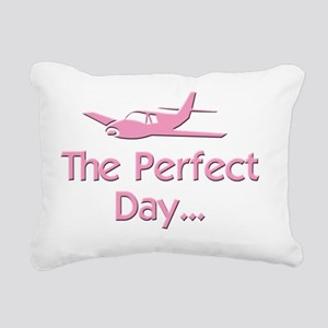 pink perfect day airplan Rectangular Canvas Pillow