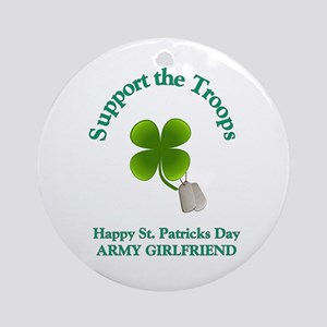 army girlfriend Ornament (Round)