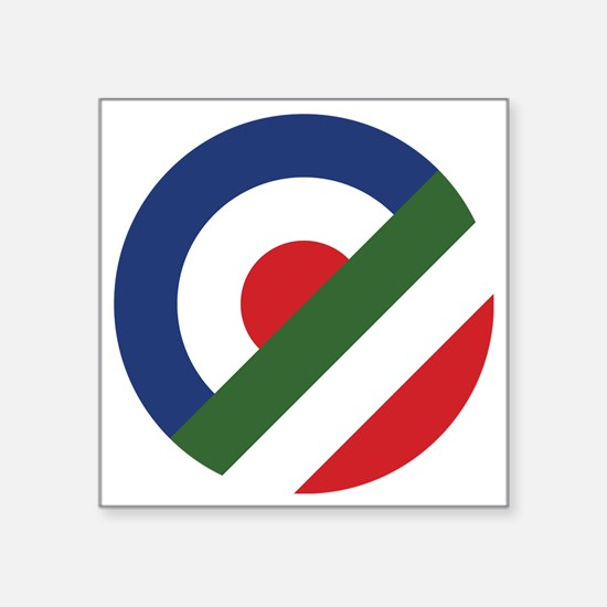 "mod-italy-01a Square Sticker 3"" x 3"""