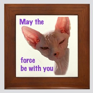 Nikita May the force be with you Framed Tile