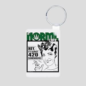 norml-life6 Aluminum Photo Keychain