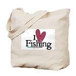 I Love Fishing Tote Bag