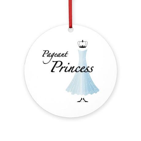 Pageant Princess Round Ornament