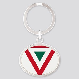 2000px-Mexican_Air_Force_roundel Oval Keychain