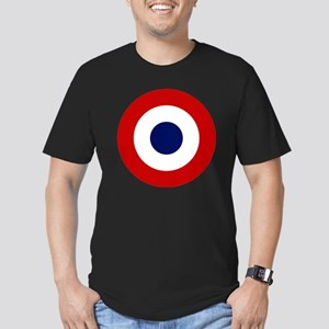 2000px-French-roundel Men's Fitted T-Shirt (dark)