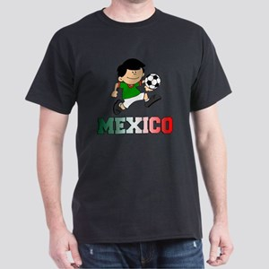 Mexican Soccer Football Dark T-Shirt