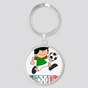 Mexican Soccer Football Round Keychain