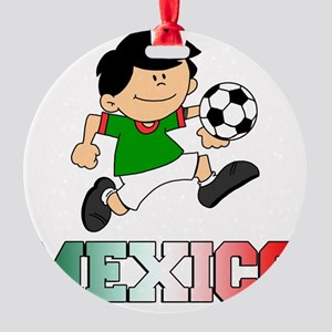 Mexican Soccer Football Round Ornament