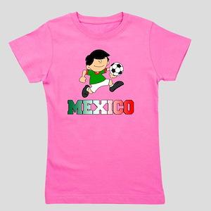 Mexican Soccer Football Girl's Tee