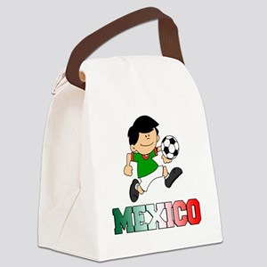 Mexican Soccer Football Canvas Lunch Bag