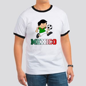Mexican Soccer Football Ringer T