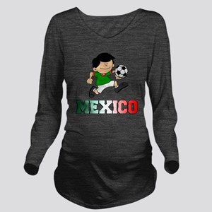 Mexican Soccer Footb Long Sleeve Maternity T-Shirt