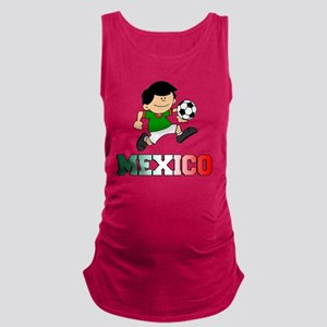 Mexican Soccer Football Maternity Tank Top