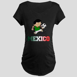 Mexican Soccer Football Maternity Dark T-Shirt