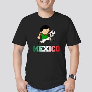Mexican Soccer Footbal Men's Fitted T-Shirt (dark)