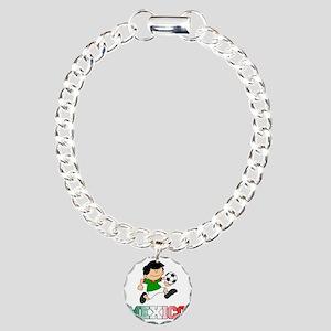 Mexican Soccer Football Charm Bracelet, One Charm