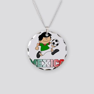 Mexican Soccer Football Necklace Circle Charm
