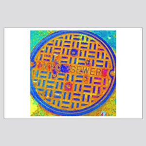 """NYC Manhole Cover"" Print Poster 23x23"""