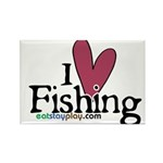 I Love Fishing Rectangle Magnet (10 pack)