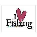 I Love Fishing Small Poster