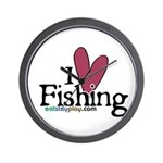 I Love Fishing Wall Clock