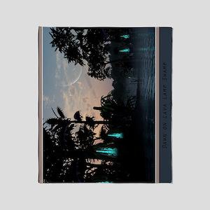 poster_lavalampswamp_17x11_vert Throw Blanket