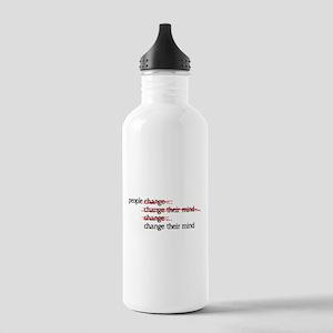 People Change Water Bottle