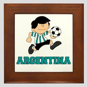 Argentine Football Soccer Framed Tile