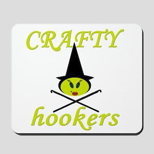 crafty hooker crochet witch Mousepad