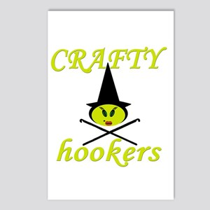 crafty hooker crochet witch Postcards (Package of