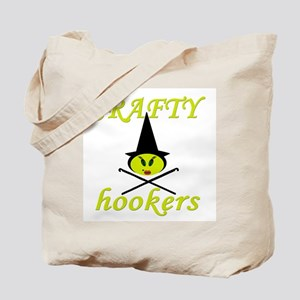 crafty hooker crochet witch Tote Bag