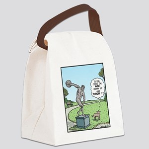 Dog Discus thrower Canvas Lunch Bag
