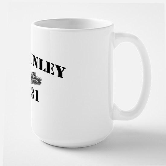 hunley black letters Large Mug