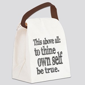 self be true Canvas Lunch Bag