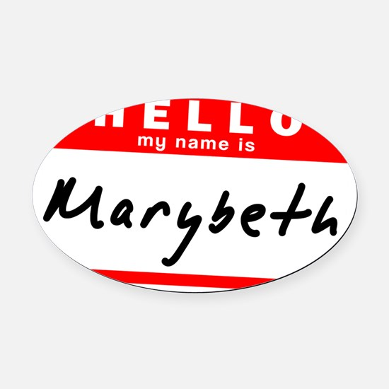Marybeth Oval Car Magnet