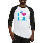 I Love (Heart) L.A. Baseball Jersey
