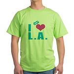 I Love (Heart) L.A. Green T-Shirt